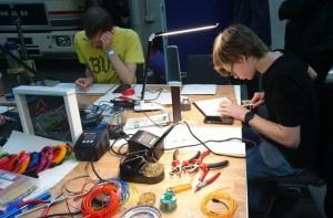 Fablab Lünen auf der Maker Faire Ruhr 2017: EL-Workshop